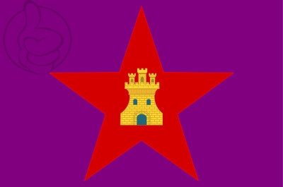 Bandera Pendón estrellado de Castilla