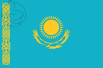 Bandera Cazaquistão