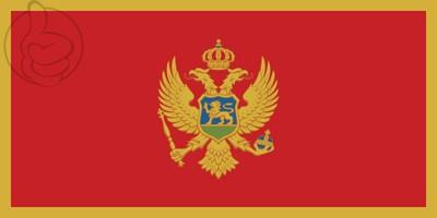 Bandera Monténégro