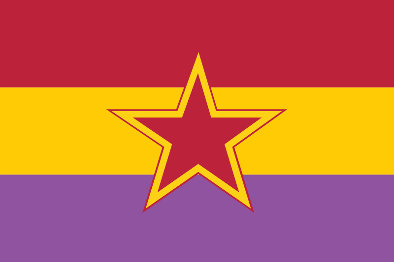 Bandera de Republicana Estrella Roja