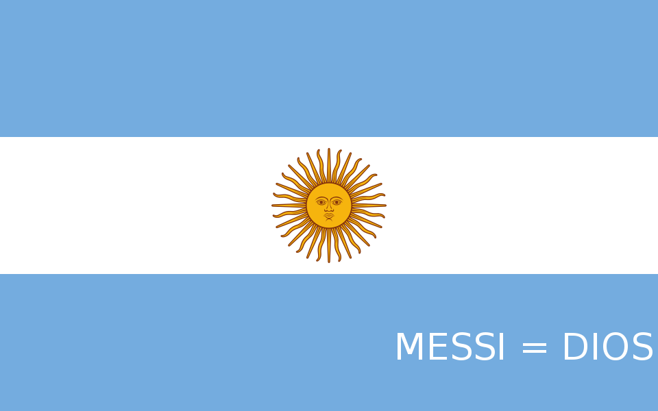 Bandeira do Messi = Deus