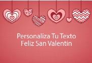 Bandera de San Valentin Corazón Colgante