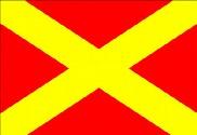 Bandera de Pista de emergencia cerrada