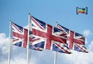 pack de Pacote 3 bandeiras do Reino Unido