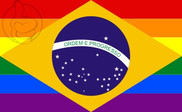 Flag of Brasil Gay