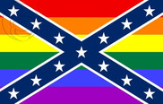 Bandeira do Estados Confederados da América GAY