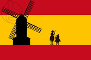 Flag of Spain Don Quijote