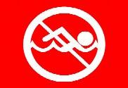 Bandera de Prohibido el baño