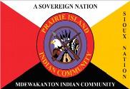 Bandera de Prairie Island Sioux