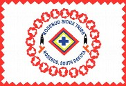 Bandera de Rosebud Sioux