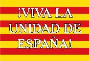 Bandera de Unidad de España Cataluña