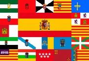 Bandera de España y sus comunidades