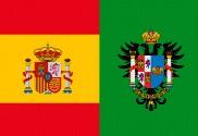 Bandera de España y Provincia de Toledo