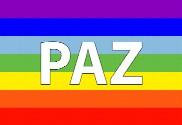 Bandera de Paz arcoiris