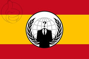 Flag of Anonymous Spain
