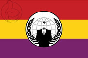 Bandeira do Anonymous Espanha republicana