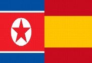 Flag of Spain vs North Korea