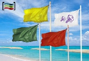 pack de Pack of four beach banners