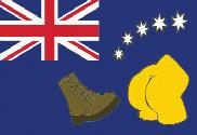 Flag of Australia Simpsons
