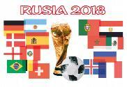 Bandera de Rusia 2018 copa
