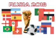 Flag of Rusia 2018 copa