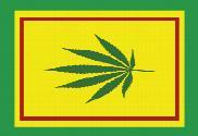 Bandera de Hoja de Cannabis