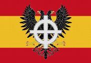 Bandera de España cruz celta y águila bicéfala