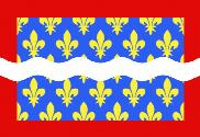 Drapeau Cher (department)