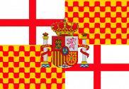 Bandera de Tabarnia con escudo de España