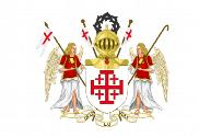 Flag of Order of the Holy Sepulcher of Jerusalem coat of arms