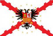 Bandeira do Borgoña con águila bicéfala y estrellas