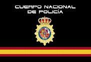 Bandera de Policía Nacional Negra España