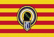 Bandera de Cataluña con escudo del hércules de Alicante