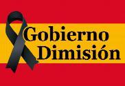 Bandera de España Dimisión