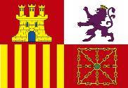 Drapeau Naval de España león burdeos