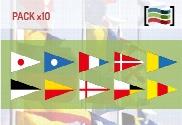 Pack de Pack 10 Banderas Numerales Naúticas