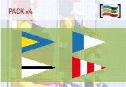 Pack de Pack Banderas Naúticas Repetidores y Galladerte de