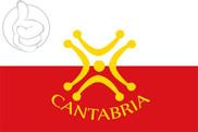 Bandera de Cantabria con Lábaro