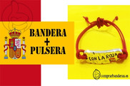 Flag of Spain Flag + Bracelet Con la Roja