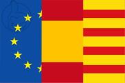 Bandera de Europa España Cataluña