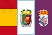 Bandera de España, Málaga y Soria