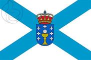 Bandera de Galicia Cruz