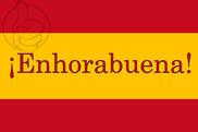 Bandera de Enhorabuena