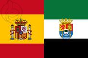 Bandera de España y Extremadura C/E