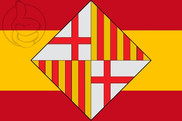 Flag of Spain - Barcelona Shield