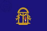 Bandera de Georgia anterior a 1879 (no oficial)