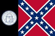 Bandera de Georgia 1956 - 2001 franja negra