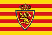 Bandera de Real Zaragoza personalizada