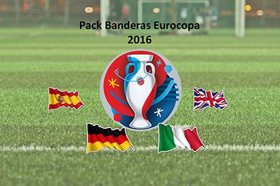Bandera Pack Banderas Eurocopa 2016