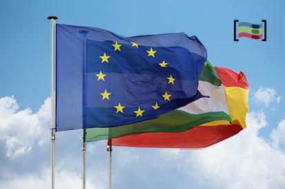 Bandera Paquete España, Unión Europea, Andalucía